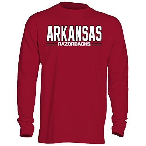 NCAA Arkansas Razorbacks Men's OVB Long Sleeve Thermal Shirt, Medium, Crimson