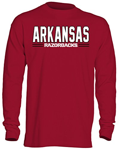 - Old Varsity Brand NCAA Arkansas Razorbacks Men's OVB Long Sleeve Thermal Shirt, Large, Crimson