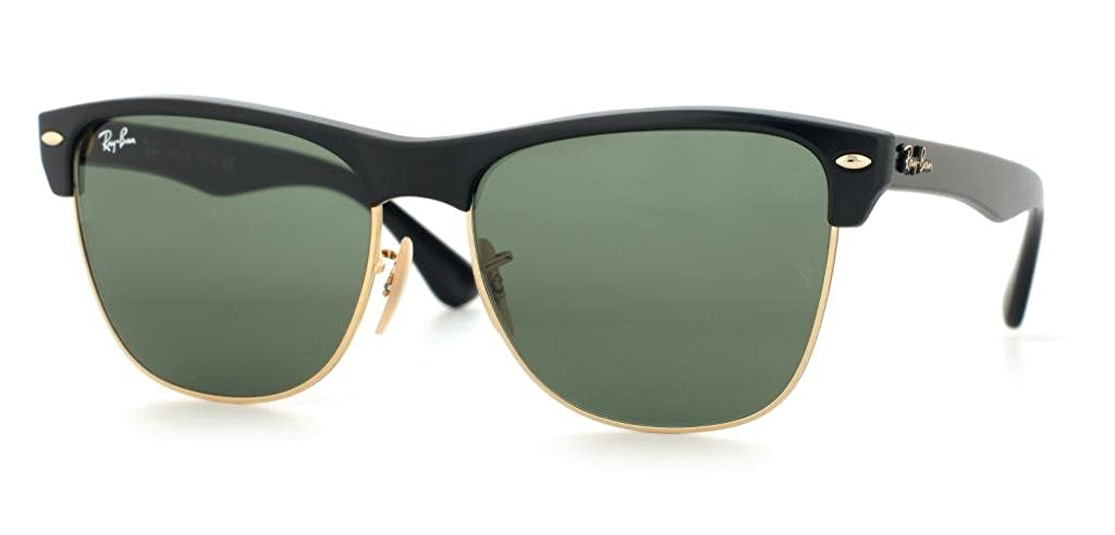 9e3b48064f Amazon.com  Ray Ban RB4175 877 57mm Black Arista Clubmaster Oversized  Bundle-2 Items  Shoes