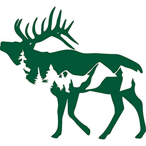 NBFU DECALS Deer Wildlife 3 (Green) (Set of 2) Premium Waterproof Vinyl Decal Stickers for Laptop Phone Accessory Helmet Car Window Bumper Mug Tuber Cup Door Wall Decoration