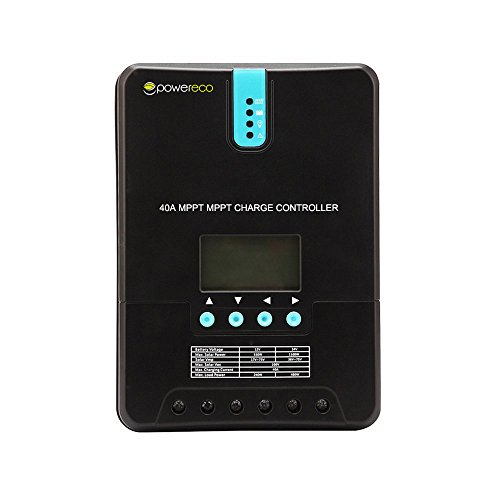 Powereco 40A MPPT Solar Charge Controller Solar Panel for 12V/24V Battery Charging by Powereco