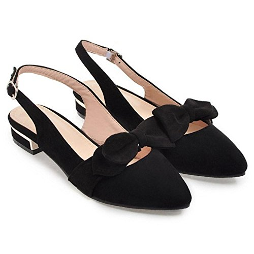 Shoes Women's Black Pumps Toe TAOFFEN Pointed Sandlas 7TZXXq