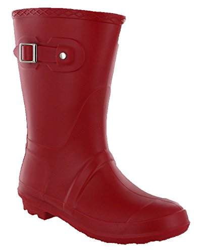 Short 4 Boots Lightweight Buckle Length Red Wellies Womens 3 Wellingtons vrxgqvw