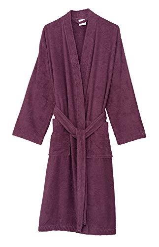 TowelSelections Women's Robe Turkish Cotton Terry Kimono Bathrobe Small/Medium Bordeaux ()