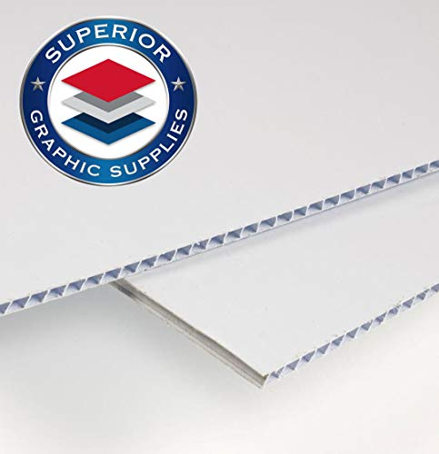 """Superior Graphic Supplies Corrugated Plastic Sheets Coroplast Sign Blank Board - Poster Sheets (18"""" x 24"""") – 4 mm - 2 Pack White Blanks Sheets from Superior Graphic Supplies"""