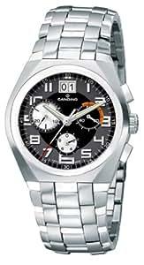 Candino Charlos Chrono C7511-C - Reloj cronógrafo de caballero de cuarzo con correa de acero inoxidable plateada - sumergible a 100 metros