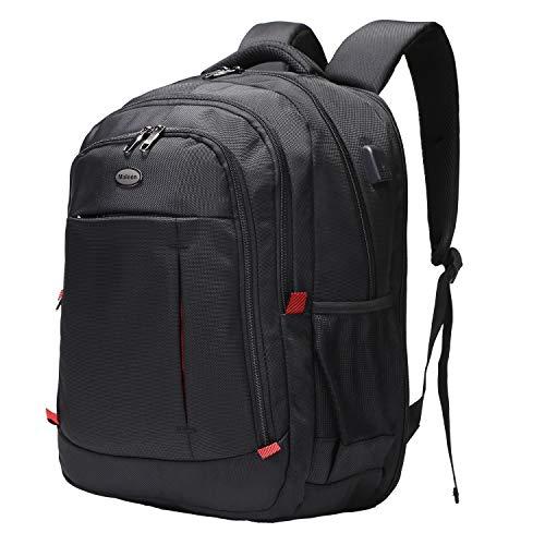 Laptop Backpack, Large Scansmart TSA Friendly Travel Bag, Durable Business Backpack with USB Charging Port for Women & Men, Waterproof College School Bookbag Computer Bag Fits 15.6
