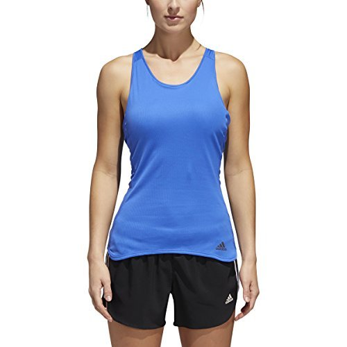Adidas Tank Response Womens (adidas Women's Running Response Built-In Cup Tank Top, Hi-Res Blue/Reflective Silver, Large)