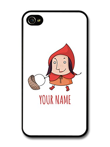 Customized Little Red Riding Hood Children Kids Personalised case for iPhone 4 4S