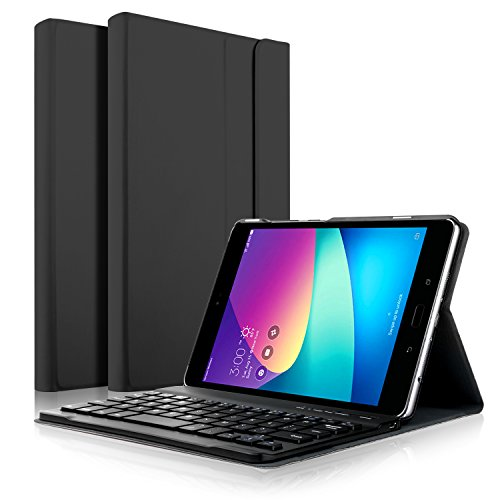 IVSO Case with Keyboard for Asus Zenpad Z8s - Ultra-Thin Detachable Wireless Keyboard Front Prop Stand Case/Cover for Asus Zenpad Z8s ZT582KL Tablet(Black)