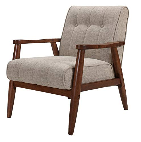 Amazon.com: Hebel Fabric Accent Chair with Wood Legs | Model CCNTCHR - 201 |: Kitchen & Dining