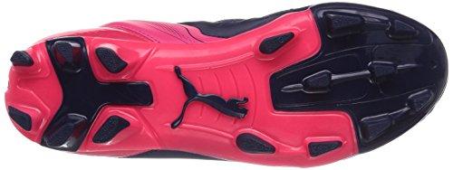 Puma evoPOWER 4.2 FG Jr - zapatillas de fútbol de material sintético infantil Azul - Blau (peacoat-white-bright plasma 01)