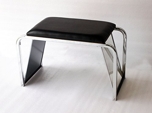 FixtureDisplays Padded Shoe Fitting Bench with Mirror 15589