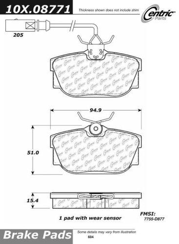 Centric Parts 100.08771 100 Series Brake Pad