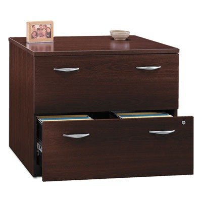 Lateral Assembled File Cabinet in Mahogany - Series C