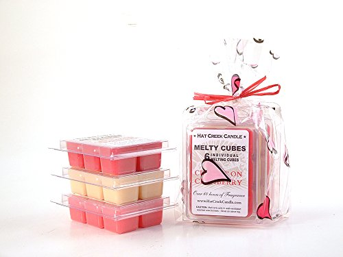Heart to Heart 3pk Melty Cube Scented Wax Melts: Crushin on Cranberry, Pink Passionfruit, Buttercream Dreams 3.2 oz (Cream Highly Scented Jar Candles)