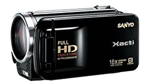 Sanyo VPC-FH1 HD 1080p Flash Memory Camcorder w/ 16x advance zoom (Black) (Discontinued by Manufacturer)