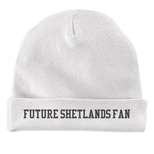 Baby Future Shetlands Biggest Fan: Infant Baby Hat (Baseballs For Shetland)