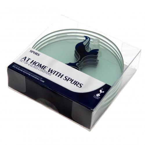 Tottenham Hotspur FC Set of 4 Glass Coasters