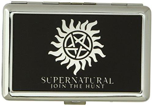 Pentagram Wallet (Buckle-Down Business Card Holder - Winchester Pentagram/SUPERNATURAL-JOIN THE HUNT Reverse Brushed - Large)