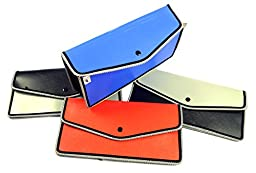 Max Documents Paper Slip Book File Button Closure Plastic Folder - Choose Color