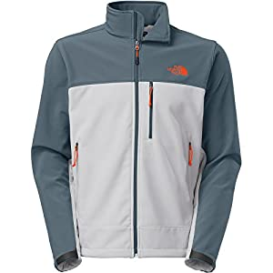 The North Face Men's Apex Bionic Jacket, High Rise Grey/Conquer Blue, XXLarge from The North Face Inc