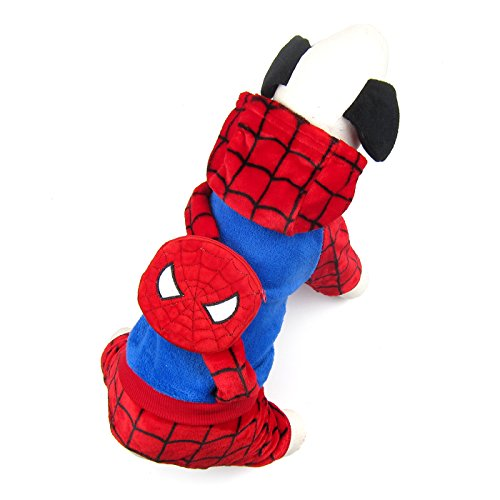 Spiderman Dog Costume (Alfie Pet by Petoga Couture - Parker Spiderman Costume With Back Pocket - Size: Medium)
