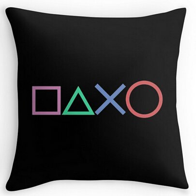 Price comparison product image Alexander Pattern Playstation Buttons Comfort Cover Two Size Zippered Home Pillowcase 18x18inch