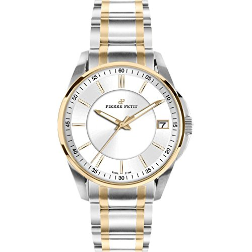 Pierre Petit Women's P-784E Serie Le Mans Two-Tone Stainless-Steel Bracelet Date Watch