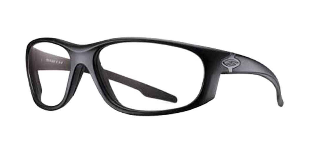 de9d6e6d13a Amazon.com  Smith Optics Chamber Tactical Sunglasses with Black Frame  (Clear Lens)  Sports   Outdoors