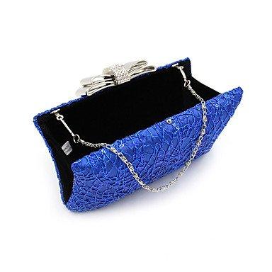 Paillette Polyester Décontracté Toutes Noir les Sac Femme de soirée Fête Soirée CliquetBleu Mariage Argent Minaudière BLUE Saisons Nylon KYS w6RqgFx