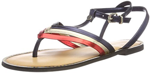 Donna Chiusura Hilfiger T Rwb Sandal Flat Corporate Tommy T a 020 Multicolore Bar 6AWHpHqz