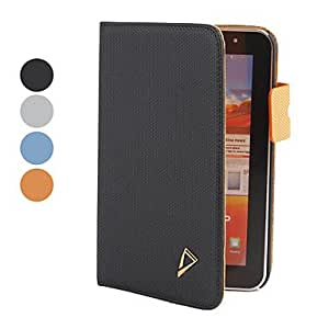 """7"""" PU Case with Card Pocket and Stand for Samsung Galaxy Tab Plus P6200 --- COLOR:Orange"""