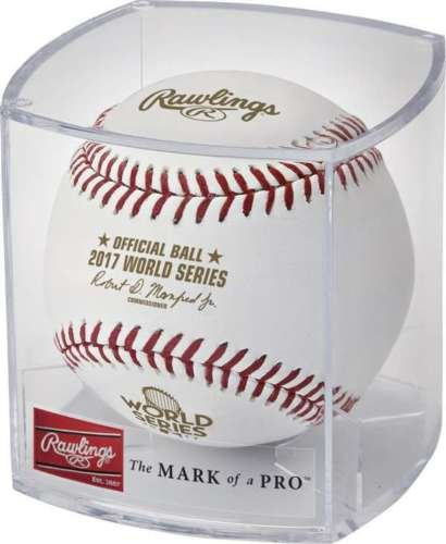 Rawlings Official 2017 World Series Leather MLB Baseball - WSBB17 - in factory sealed display (Official Mlb World Series)