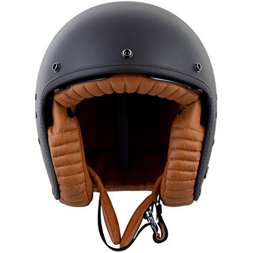 ScorpionExo Belfast 3/4 Open Face Helmet (Matte Black, Medium)