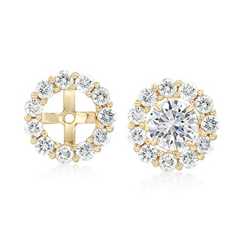 Ross-Simons 1.50 ct. t.w. Diamond Earring Jackets in 14kt Yellow Gold