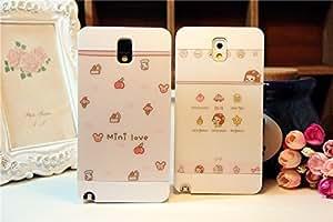 Galaxy S4 Case,Mini Love Cutie White case Back Case Cover for Samsung Galaxy S4 I9500, 1 piece, Girl