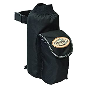 Weaver Leather Trail Gear Water Bottle Holder, Black