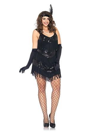 629ca41304b7a Amazon.com  Leg Avenue Women s 2 Piece Roaring 20 s Honey Fringe Dress with  Headband  Clothing