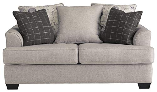 Ashley Furniture Signature Design - Velletri Casual Loveseat - Vintage Style - Beige with Pewter