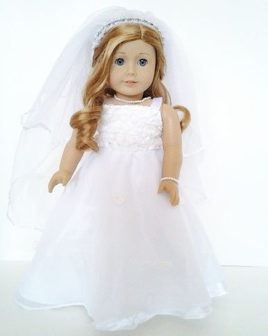 (My Brittany's Communion and Wedding Gown for American Girl Dolls)