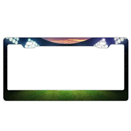 - GREDBH Soccer Playground customized License Plate Frame Tag Holder 2 Holes US Plate Covers