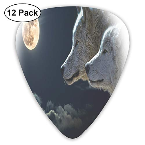 2 Wolf Moon Exquisite Shell Surface Guitar Pick-12 Pieces of Packaging General Purpose
