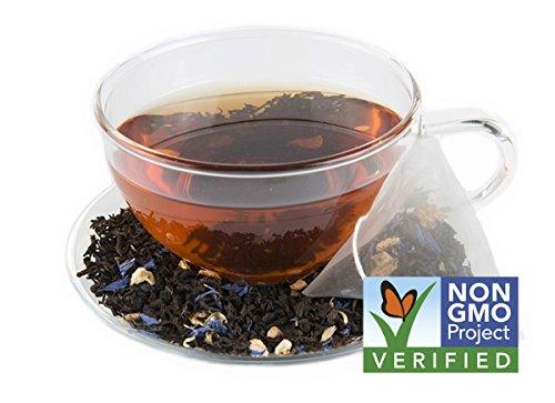 Energy Tea - High Caffeine Blue Lady Black Tea - 150 Mg Of Caffeine Per Bag (15 Tea Sachets)