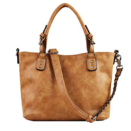 Concealed Carry Purse - YKK Locking Ella Braided Concealed Weapon Tote by Lady Conceal (Cinnamon) ()