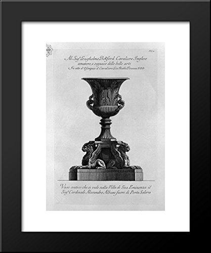 Antique vase of marble (Villa Albani) 20x24 Framed Art Print by Piranesi, Gio.