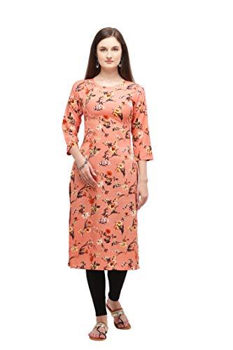 Rangrasiya Corporation Women Crepe Floral Printed Straight Kurta