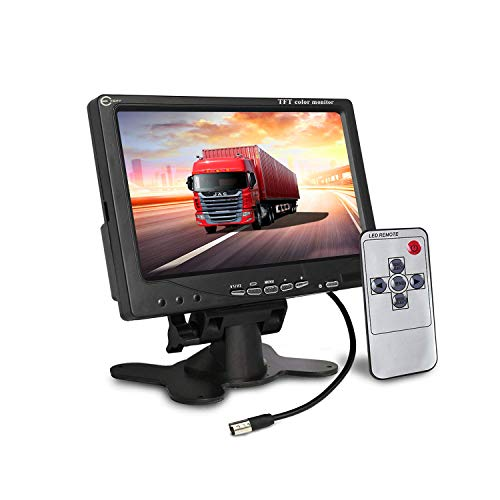 Esky 7 inch TFT LCD Color 2 Video Input Car Rear View Monitor DVD VCR Monitor with Remote and Stand