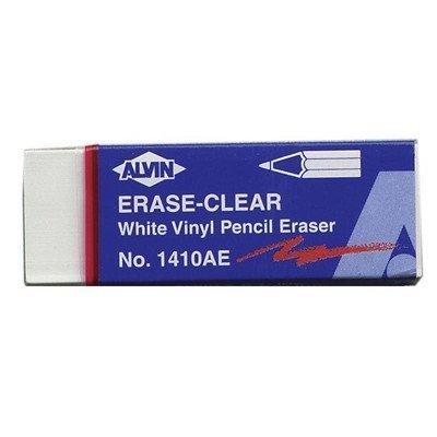 Alvin White Vinyl Pencil Erasers 20/Box by Alvin by Alvin