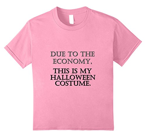 College Costumes For Students Simple (Kids Funny Economy Halloween Shirt for Broke College Student 8)